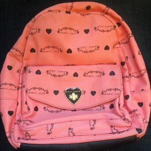 Betsey Johnson Zip Up Backpack